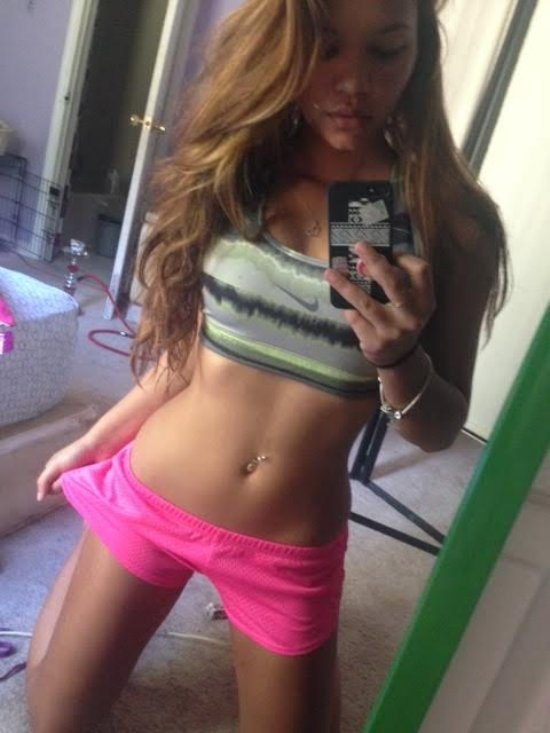 teen girl and flat belly